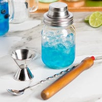 4-Piece 14 oz. Mason Jar Shaker Cocktail Kit