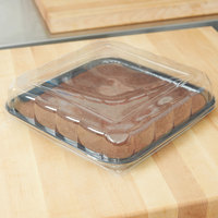 Solut 68055-CP Bake and Show 11 1/2 inch Black Elegance Square Oven Safe Tray with Lid - 30/Case