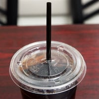 Choice 7 3/4 inch Jumbo Black Wrapped Straw - 500/Box