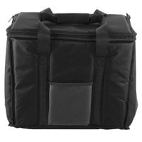 Choice Insulated Delivery Bag, Soft-Sided Sandwich / Take-Out Hot / Cold Delivery Bag, Black Nylon, 15 inch x 12 inch x 12 inch -