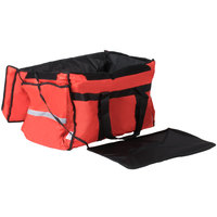 ServIt Insulated Food Delivery Bag Soft-Sided Heavy-Duty / Pan Carrier Red Nylon