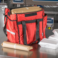 ServIt Insulated Food Delivery Bag Red Soft-Sided Heavy-Duty Nylon