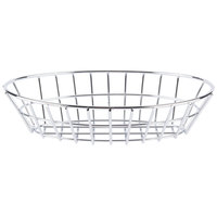 Clipper Mill by GET 4-20144 9 1/4 inch x 6 1/2 inch Chrome Oval Grid Basket