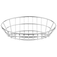 Clipper Mill by GET 4-82144 9 1/4 inch x 6 1/2 inch Stainless Steel Oval Grid Basket