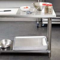 Regency Spec Line 24 inch x 60 inch 14 Gauge Stainless Steel Commercial Work Table with Undershelf