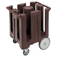 Cambro DC825131 Poker Chip Dark Brown Dish Dolly / Caddy with Vinyl Cover - 4 Column