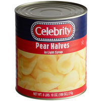 Celebrity #10 Can Pear Halves in Light Syrup - 6/Case