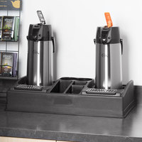 Choice Coffee Station Organizer with 2.2 Liter Glass Lined Lever Airpots - Reg/Decaf