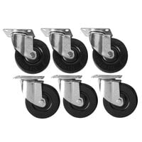 Cooking Performance Group 4 3/4 inch Plate Casters - 6/Set