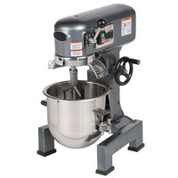 Avantco MX10WFB 10 Qt. Gear-Driven Commercial Planetary Stand Mixer with Guard and Flexible Silicone Blade Beater - 120V, 3/4 hp