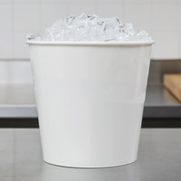 Lavex Lodging 10 lb. White Disposable Paper Ice Bucket - 150/Case