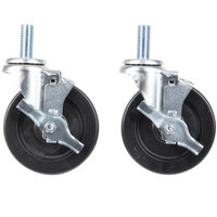 Garland and Sunfire Equivalent 5 inch Stem Casters for SunFire X24, X36, X60 and Garland / U.S. Range G, GF, GFE, and U Series Ranges   - 4/Set