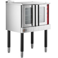 Cooking Performance Group FGC100L Single Deck Full Size Liquid Propane Convection Oven with Legs - 54,000 BTU