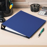 Avery 3400 Blue Economy Non-View Binder with 1 1/2 inch Round Rings