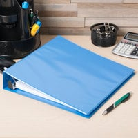 Avery 5401 Light Blue Heavy-Duty Non-Stick View Binder with 1 1/2 inch Slant Rings