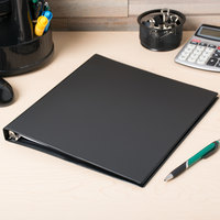 Avery 3201 Black Economy Non-View Binder with 1/2 inch Round Rings
