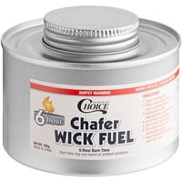 Choice 6 Hour Wick Chafing Dish Fuel with Safety Twist Cap - 12/Pack