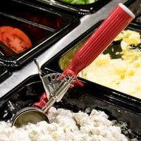 Vollrath 47145 Jacob's Pride #24 Red Thumb Press Disher - 1.33 oz