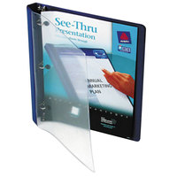 Avery 10801 Blue See-Thru View Binder with 1/2 inch Round Rings