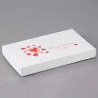 9 3/8 inch x 5 5/8 inch x 1 1/8 inch 2-Piece 1 lb. Valentine's Day Candy Box - 125/Case