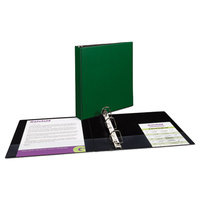 Avery 27353 Green Durable Non-View Binder with 1 1/2 inch Slant Rings