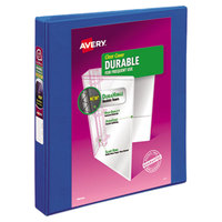Avery 17014 Blue Durable View Binder with 1 inch Slant Rings