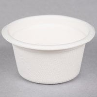 EcoChoice Biodegradable, Compostable Sugarcane / Bagasse 2 oz. Portion Cup   - 100/Pack