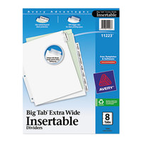 Avery 11223 Big Tab Extra Wide 8-Tab Clear Insertable Tab Dividers