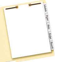 Avery 13160 Big Tab 5-Tab White Paper Side Tab Write-On Dividers