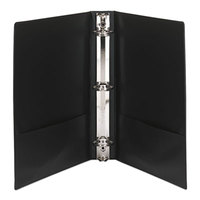Avery 19650 Black Economy Showcase View Binder with 1 1/2 inch Round Rings