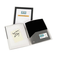 Avery 47847 Flexi-View Letter Size 2-Pocket Plastic Folder with Translucent View Window, Black - 2/Pack