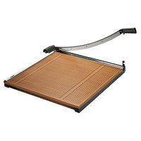 X-Acto 26624 24 inch Square 20 Sheet Commercial Guillotine Paper Trimmer with Wood Base