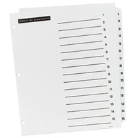 Avery Office Essentials 11674 Table 'n Tabs White 15-Tab Dividers