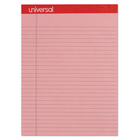 Universal UNV35883 Legal Rule Pink Perforated Note Pad, Letter - 12/Pack