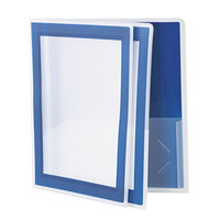 Avery 47846 Flexi-View Letter Size 2-Pocket Plastic Folder with Translucent View Window, Navy Blue - 2/Pack