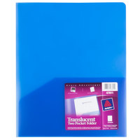 Avery 47811 Letter Size 2-Pocket Plastic Folder - Translucent Blue