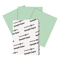 Springhill 046000 8 1/2 inch x 11 inch Green Pack of 67# Vellum Bristol Cover - 250 Sheets