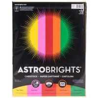 Astrobrights 21003 8 1/2 inch x 11 inch Bold Assorted Pack of 65# Smooth Color Paper Cardstock - 250 Sheets