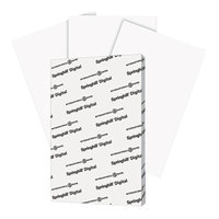 Springhill 015110 11 inch x 17 inch White Pack of 90# Index Card Stock - 250 Sheets