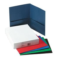 Avery 47993 Letter Size 2-Pocket Paper Folder, Assorted Color - 25/Box