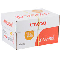Universal Office UNV28230 8 1/2 inch x 11 inch White 3-Hole Punched Case of 20# Copy Paper - 5000 Sheets