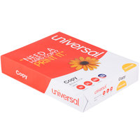 Universal Office UNV11289 8 1/2 inch x 11 inch White Case of 20# Copy Paper - 2500 Sheets