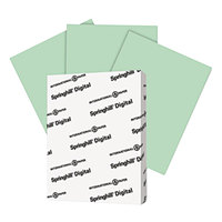 Springhill 045100 8 1/2 inch x 11 inch Green Pack of 90# Index Card Stock- 250 Sheets