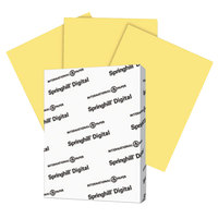 Springhill 055300 8 1/2 inch x 11 inch Buff Pack of 110# Index Card Stock - 250 Sheets