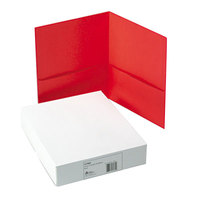 Avery 47989 Letter Size 2-Pocket Paper Folder, Red - 25/Box