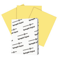 Springhill 055100 8 1/2 inch x 11 inch Buff Pack of 90# Index Card Stock - 250 Sheets