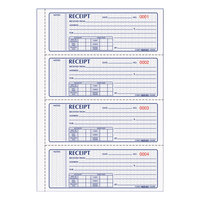 Rediform Office 8L808 3-Part Carbonless Soft Cover Numbered Receipt Book with 100 Sheets