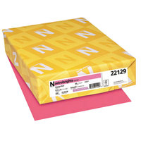 Astrobrights 22129 8 1/2 inch x 11 inch Plasma Pink Pack of 65# Smooth Color Paper Cardstock - 250 Sheets