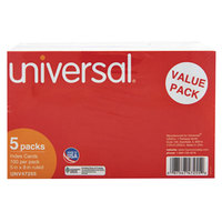 Universal UNV47255 5 inch x 8 inch White Ruled Index Cards - 500/Pack