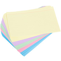 Universal UNV47256 5 inch x 8 inch Assorted Color Ruled Index Cards   - 100/Pack